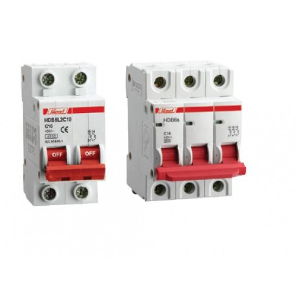 HDB6L1C1/ , 3 Single Pole, 1/3/50/63 Amps , 4.5kA