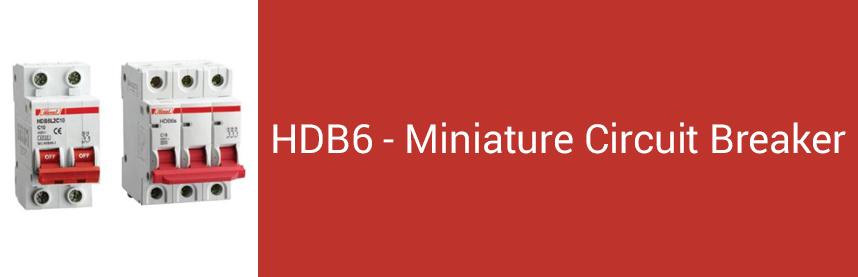 HDB6 - Miniature Circuit Breaker