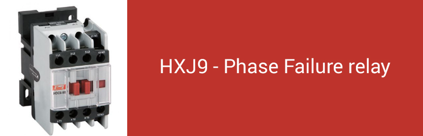 HXJ9 - Phase Failure relay