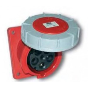63 Amp 3 Pole Flanged Socket IP67