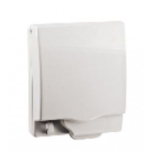 Full time WP* rigid 1G socket cover - White - IP55