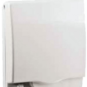 Full time WP* rigid 2G socket cover - White - IP55