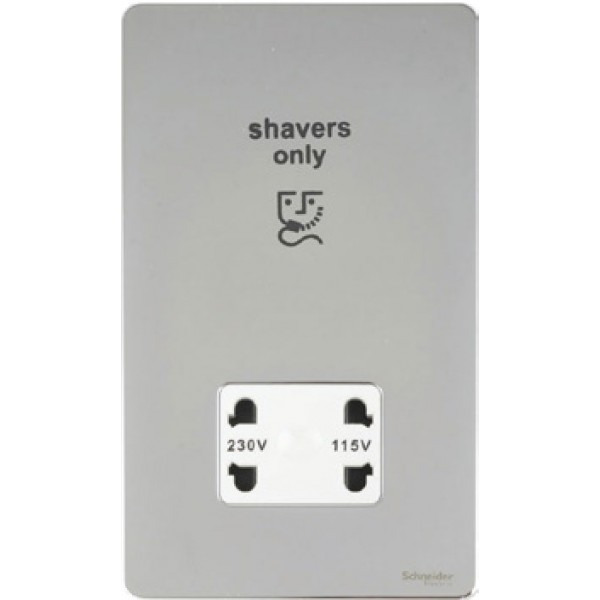 115/230 Dual Voltage Shaver Socket