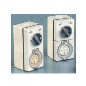 Combination Switched Socket -  40 Amp 5 Pin Combination Switched Socket