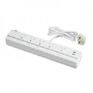 Power socket-outlet extension-surge protection + 2 USB Ports 5 Gangs-13A