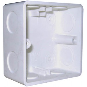 1 Gang Flush Box (87 x 87mm)