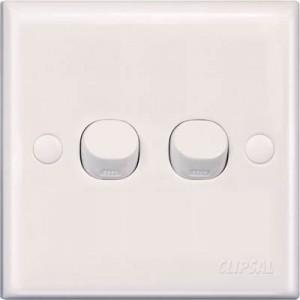 10AX 250V 2 Gang 1 Way Switch