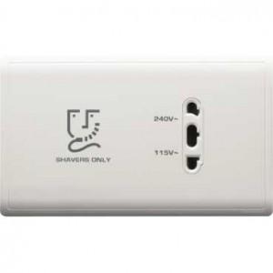 Universal Shaver Socket 115V/240V, Horizontal