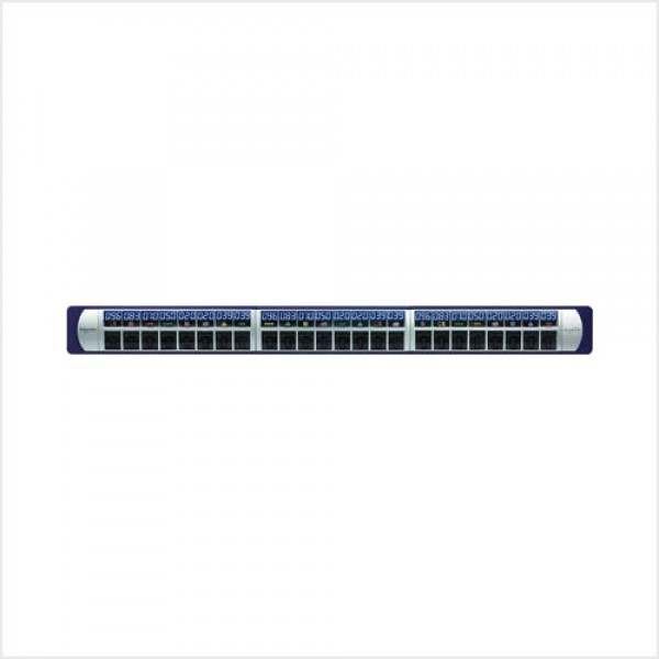 Category6A, 10G UTP 24-port Patch Panel Shutter, Loaded