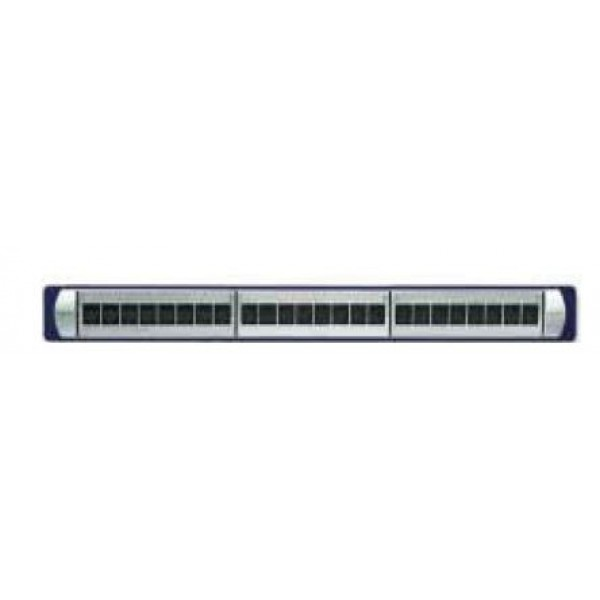 Equipped panel 1U UTP Cat 6 with 24 RJ 45 Keystone Connectors, Non - Shutter
