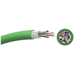 24 fibers, OM4 50/125, Tight buffered, Up to 100Gbps ethernet supported, 2100 m , 8,8mm