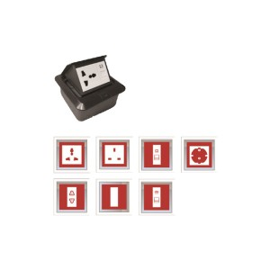 Floor Socket with Back Box (Suits 3 Modules)